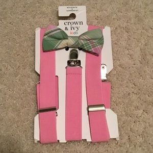 NWT Boys Bow Tie with Suspenders
